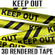 Keep Out Barricade Tape - GraphicRiver Item for Sale