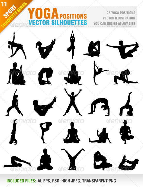 GraphicRiver 25 Yoga Positions 6531118