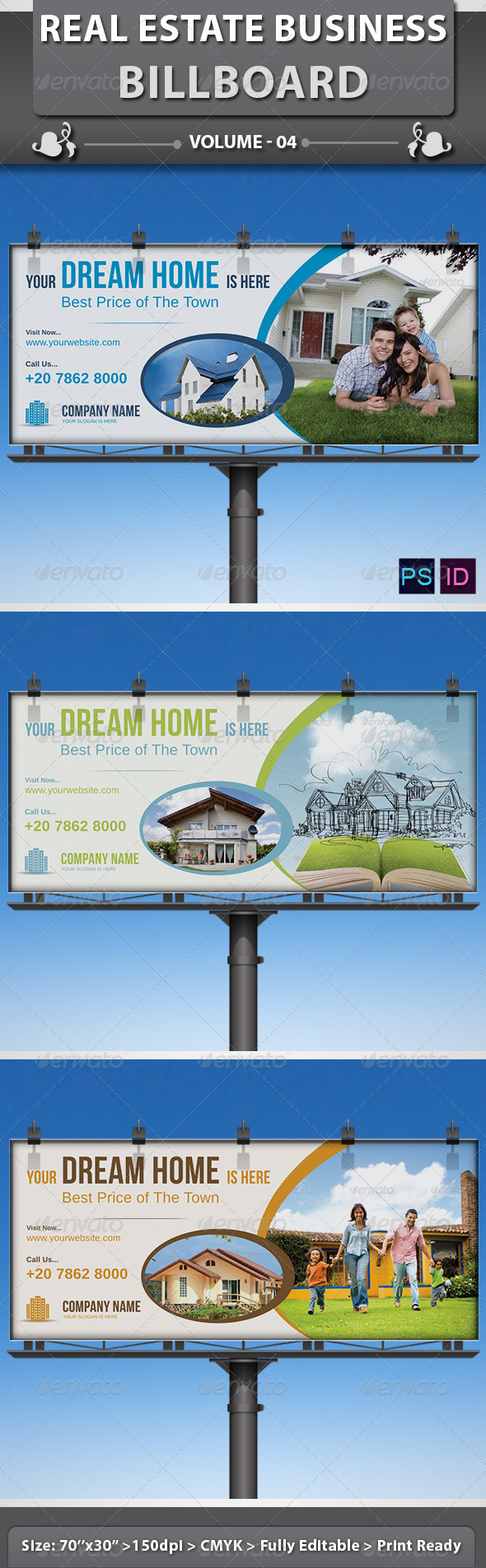 Real Estate Business Billboard | Volume 4 - Signage Print Templates