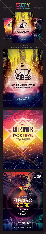 City Party Flyer Bundle Vol.02 - Clubs & Parties Events