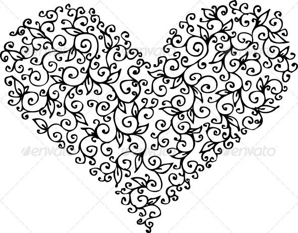 GraphicRiver Romantic Heart Vignette CCXIII 6531161