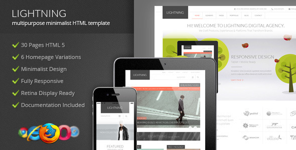 ThemeForest Lightning Multipurpose Minimalist HTML Template 6531168