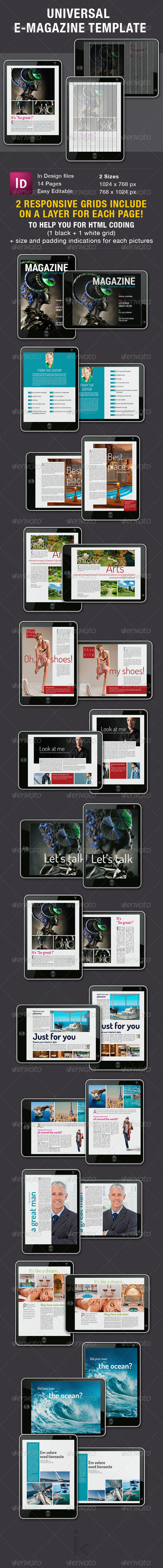 GraphicRiver Universal E-Magazine Template 6531176