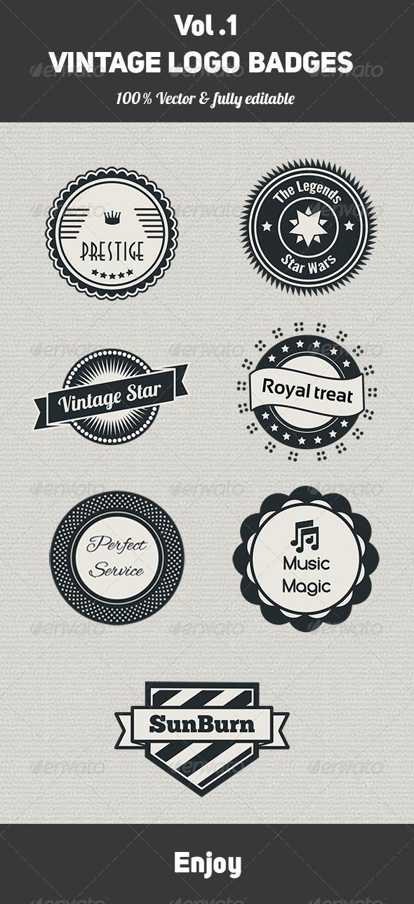 GraphicRiver Vintage Logo Badges Vol 1 MagicPixelz 6528281