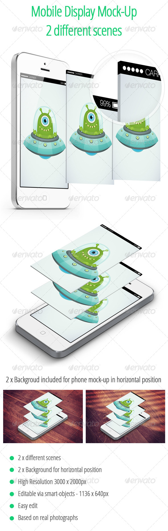 GraphicRiver Mobile Display Mock-UP 2 Isometric Scenes 6529377