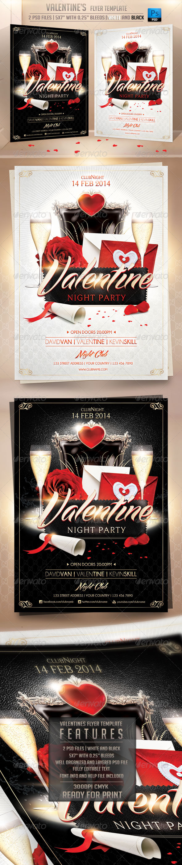 GraphicRiver Valentines Flyer Template 6531495