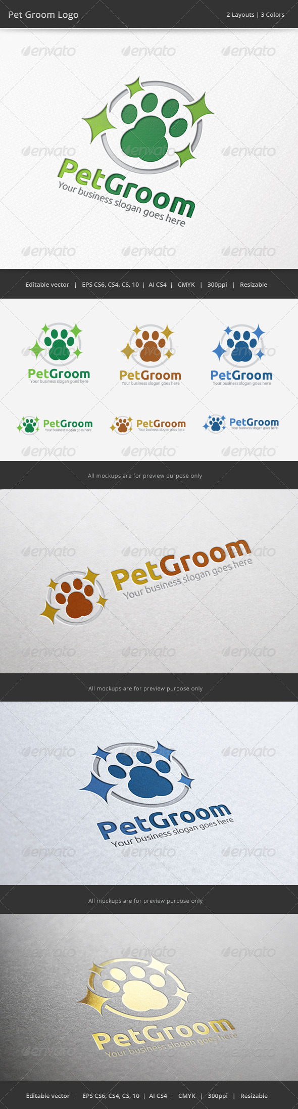 GraphicRiver Pet Groom Logo 6531618