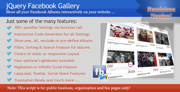 jQuery Facebook Gallery - CodeCanyon Item for Sale