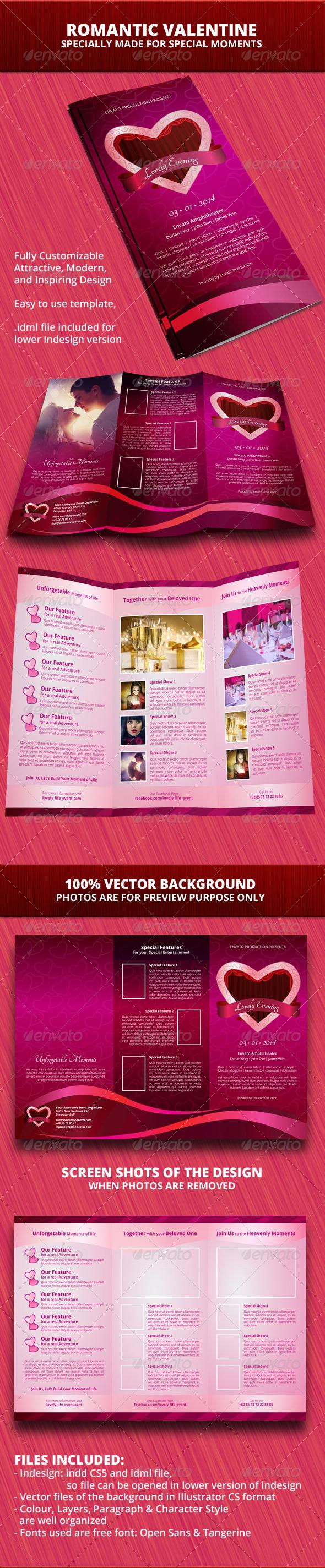 GraphicRiver Romantic Valentine Trifold Brochure 6531666