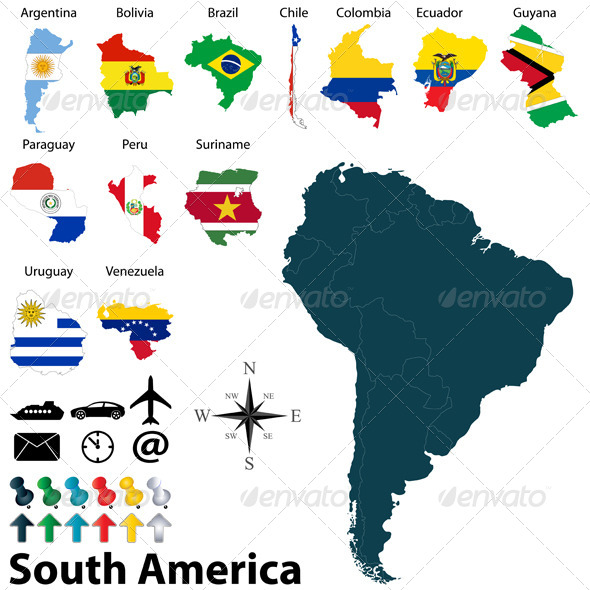 GraphicRiver Maps of South America 6531714