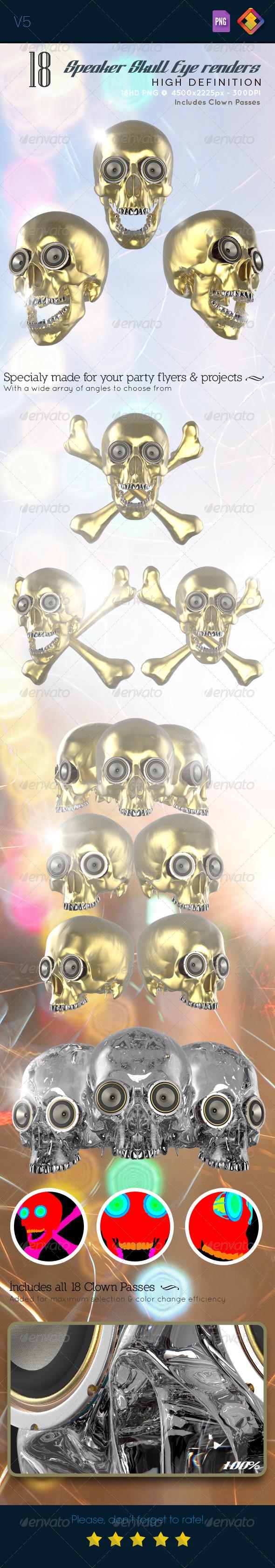 GraphicRiver Skull Speaker Eye Renders V5 6531912