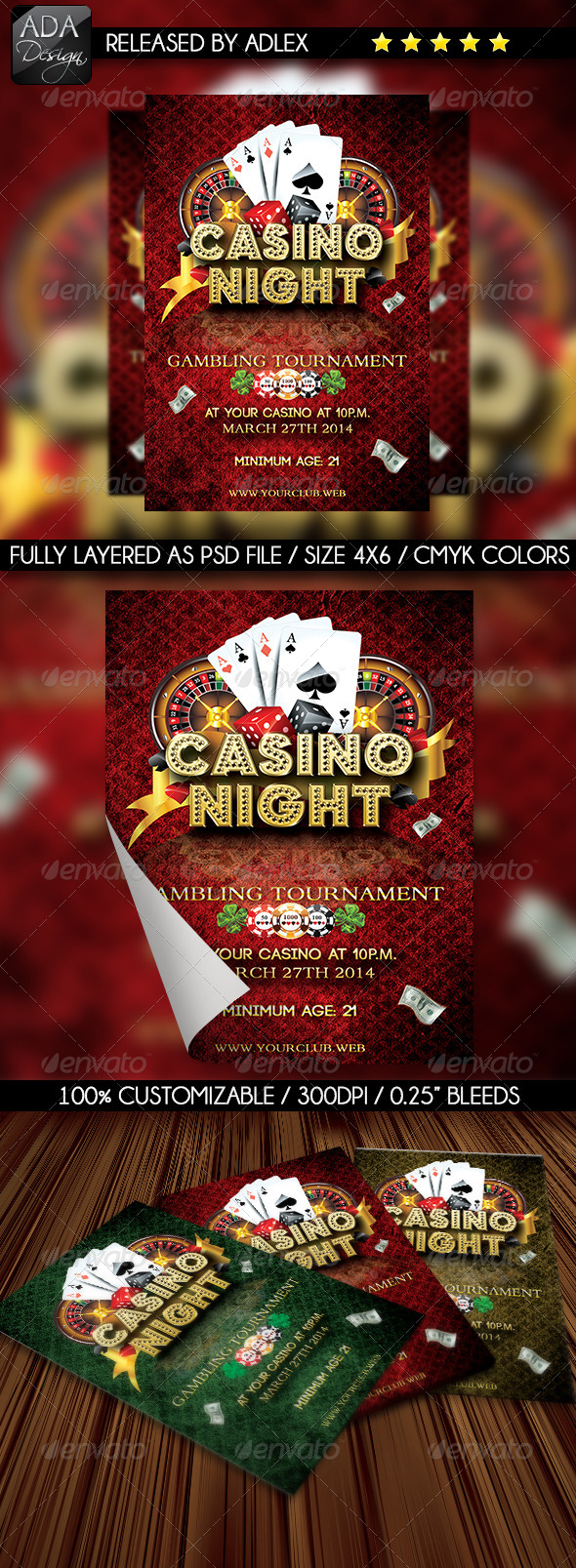 GraphicRiver Casino Night Flyer 6532023