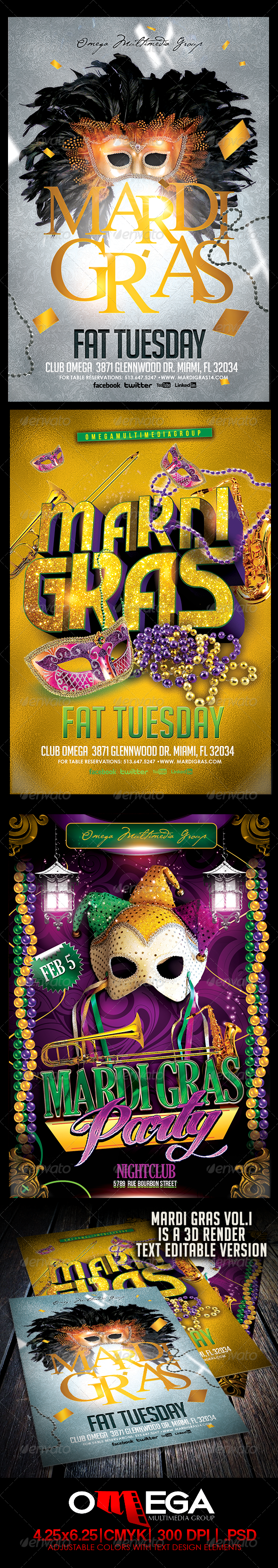 GraphicRiver The Mardi Gras Bundle 6507646