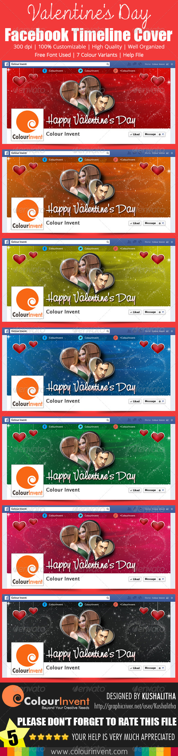 GraphicRiver Valentine s Day Facebook Cover 6532590