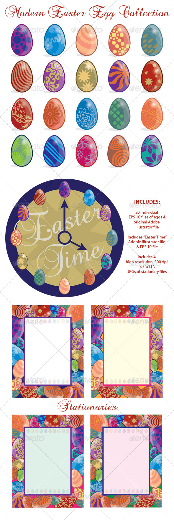 GraphicRiver Modern Easter Egg Collection 6532680