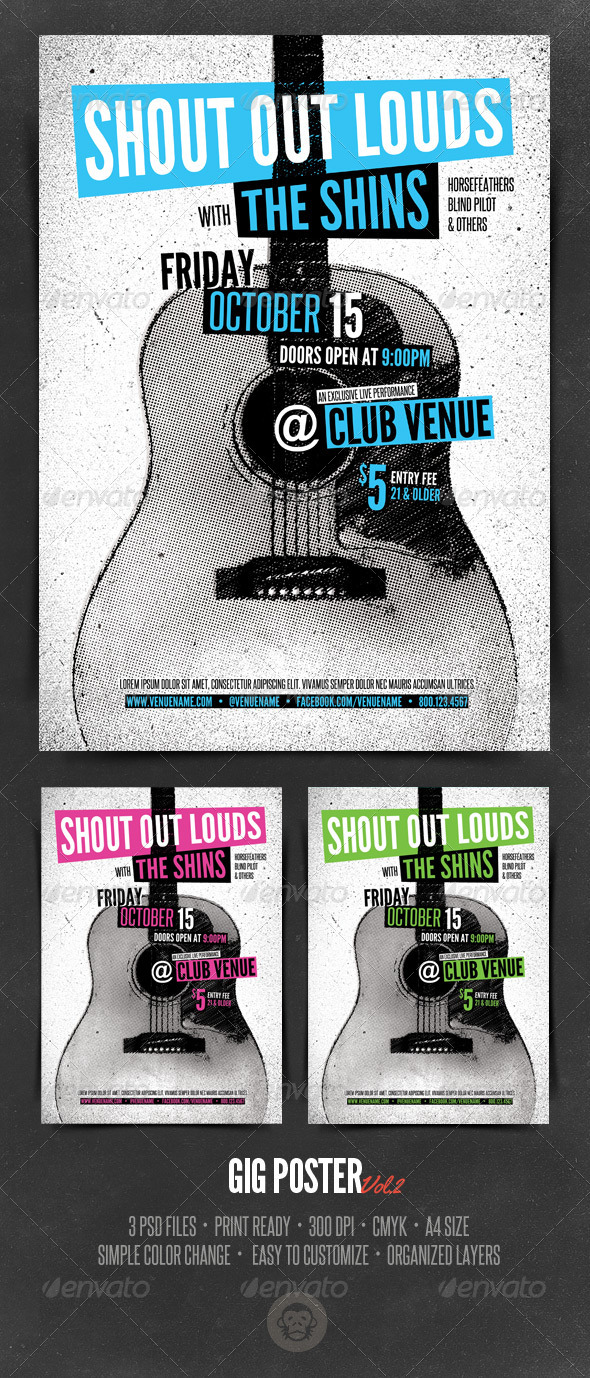 GraphicRiver Gig Poster Template Vol2 6532707