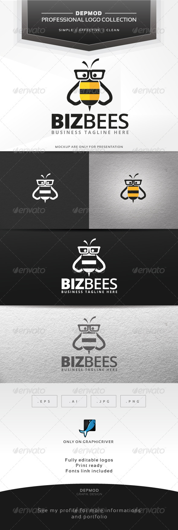 Biz Bees Logo - Animals Logo Templates