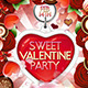 Sweet Valentine Party Flyer Template - GraphicRiver Item for Sale