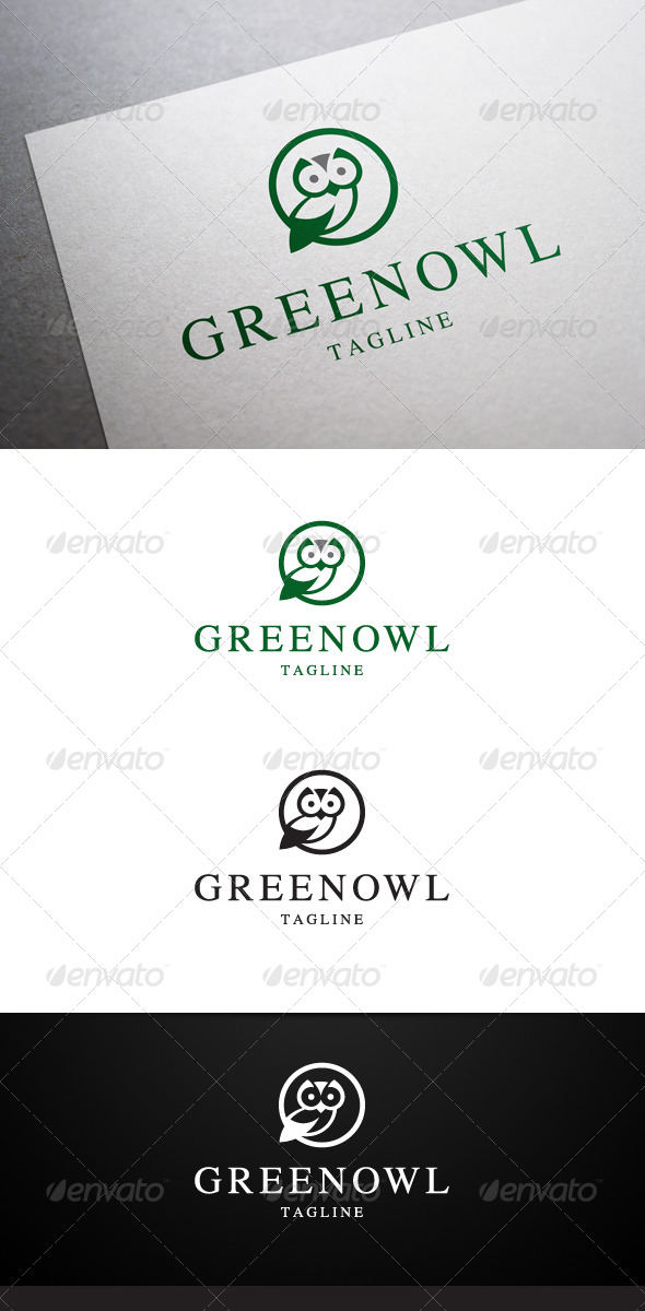 GraphicRiver Green Owl Logo 6533049