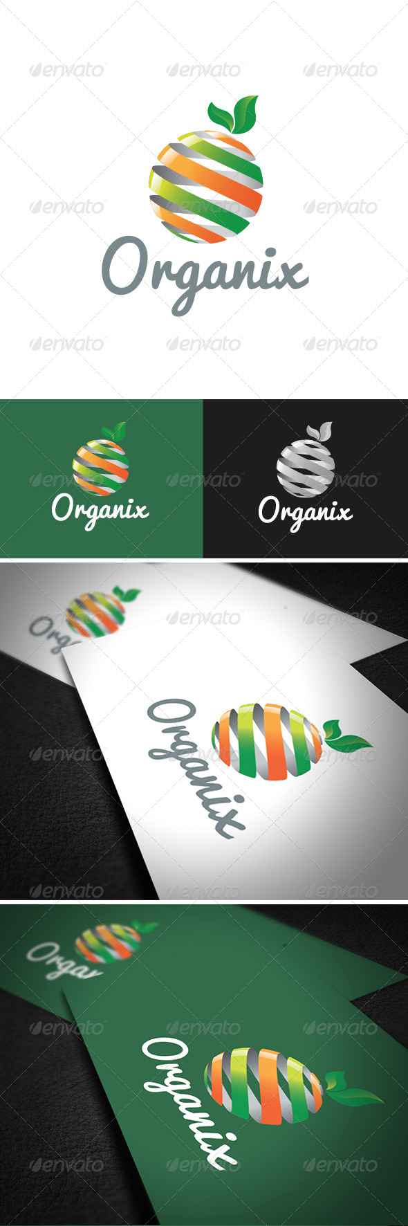 Organix Logo Template - Vector Abstract