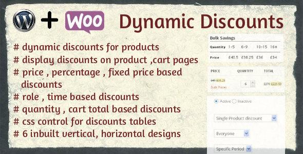 CodeCanyon WooCommerce dynamic discounts 6533113