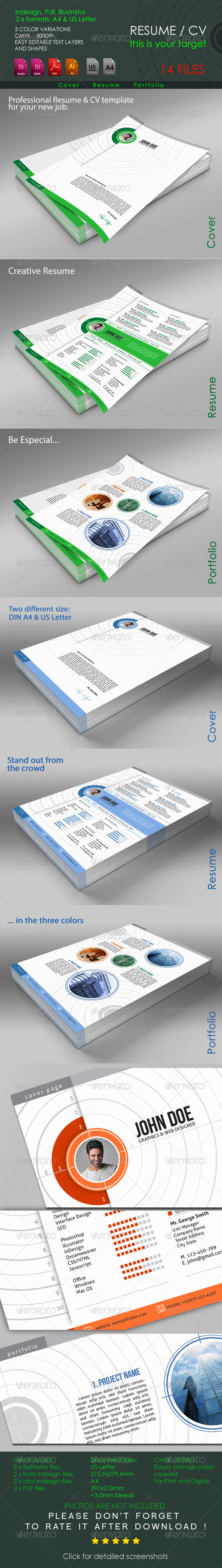 GraphicRiver Resume Target 6533125