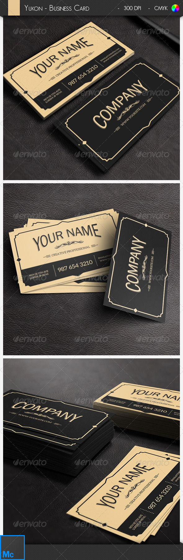 GraphicRiver Yukon Vintage Business Card 6533273