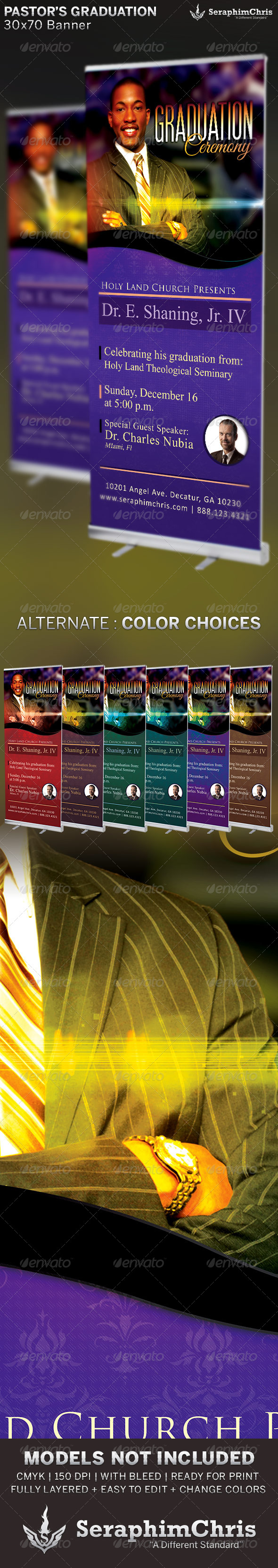 GraphicRiver Pastor s Graduation Ceremony Banner Template 6510223