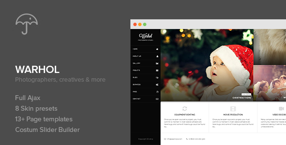 ThemeForest Warhol Portfolio Responsive WordPress Theme 6508542