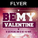 Be my Valentine | Party Flyer Template - GraphicRiver Item for Sale