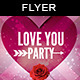 Love You | Valentine Party Flyer - GraphicRiver Item for Sale