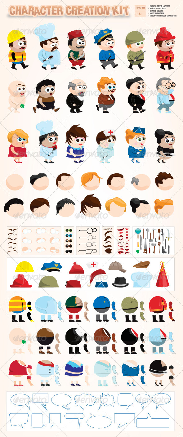 GraphicRiver Character Creation Kit 6521728
