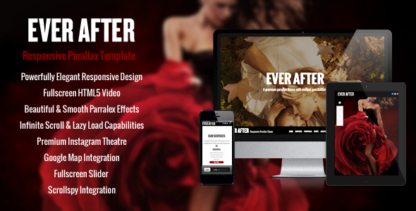 ThemeForest Ever After Responsive Parallax One-Page Template 6533906