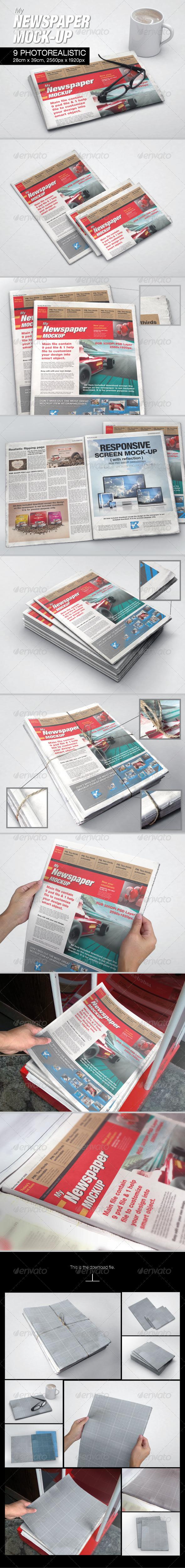 GraphicRiver MyNewspaper Mock-up 6533964