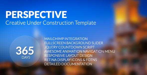 ThemeForest Perspective Creative Under Construction Template 6533977