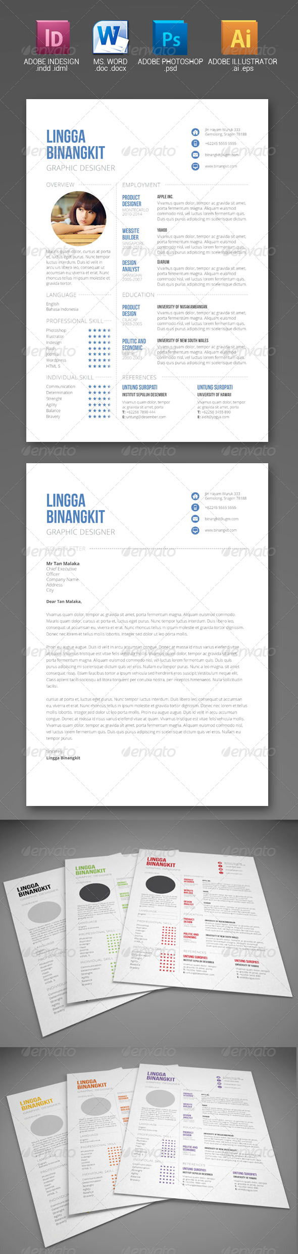 Sewon Clean Resume Template Volume 6