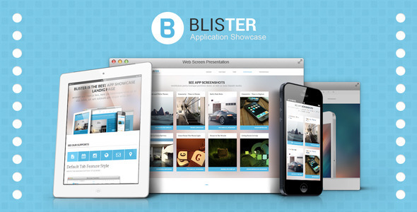 ThemeForest Blister App Showcase Landing Page 6533985