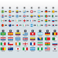 2014 World Cup Groups. National Team Flags. - PhotoDune Item for Sale