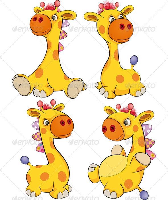 GraphicRiver Set of Toy Giraffes Cartoon 6534227