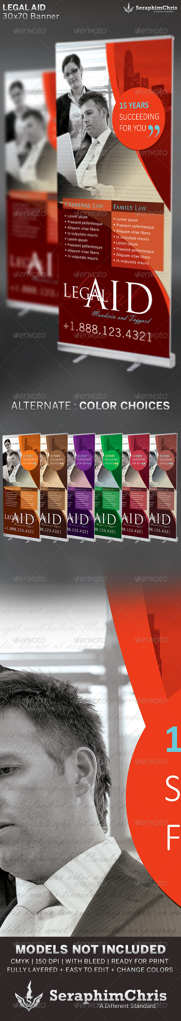 GraphicRiver Legal Aid Banner 2 Template 6534277