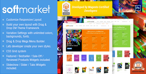 Responsive Magento Theme - Gala SoftwareMarket