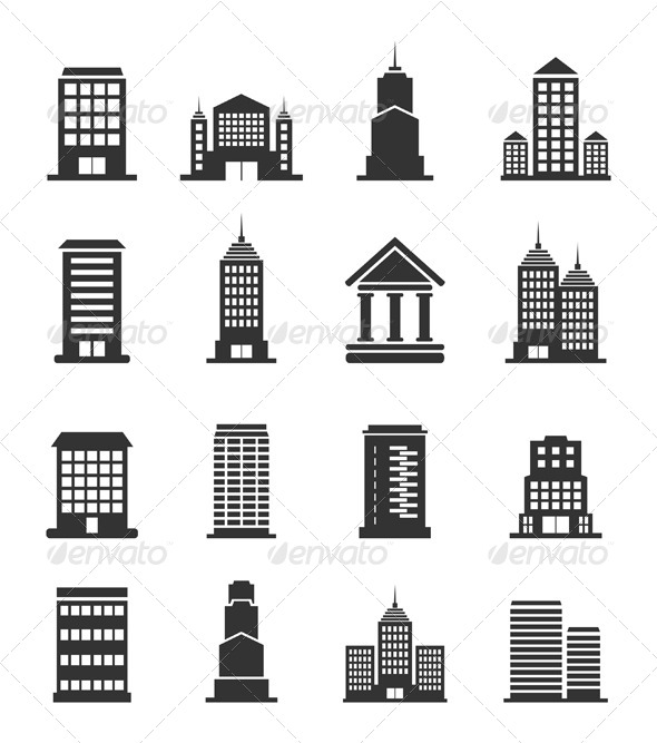 GraphicRiver Building Office Icons 6534302