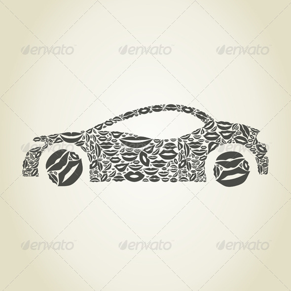 GraphicRiver Car Made of Lips 6534305