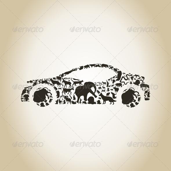 GraphicRiver Car Made of Animals 6534308