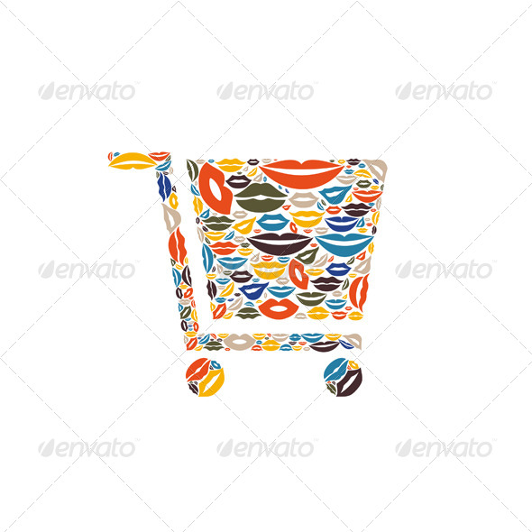 GraphicRiver Cart Made of Lips 6534310