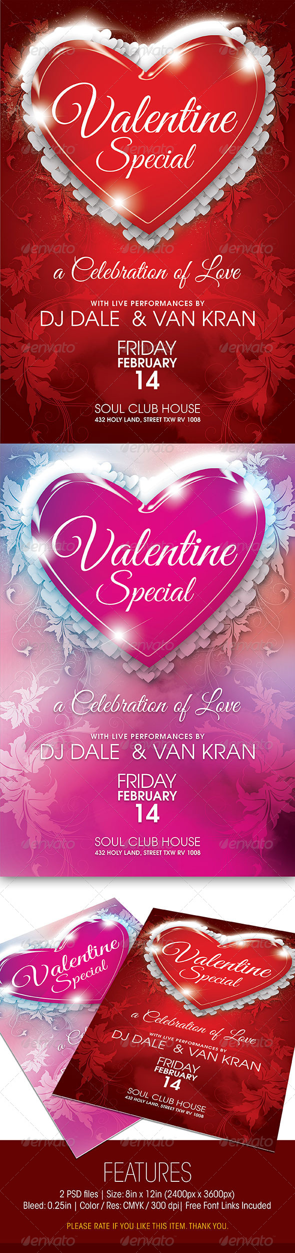 GraphicRiver Valentine Special Party Flyer 6508753