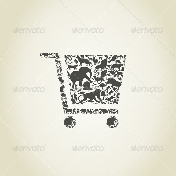 GraphicRiver Cart Made of Animals 6534313