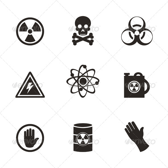 GraphicRiver Danger Icons 6534316