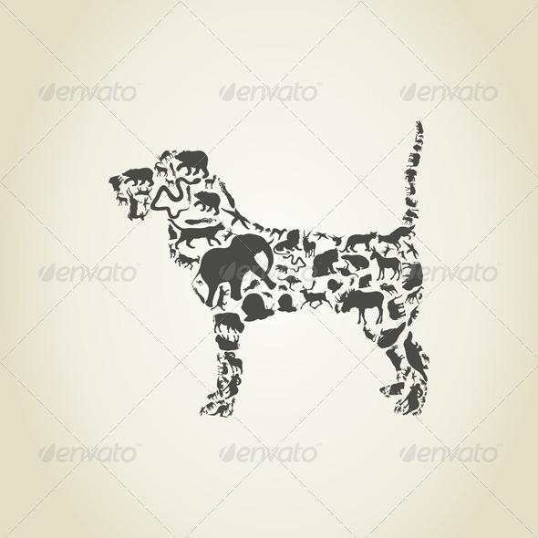 Dog Made of Animals