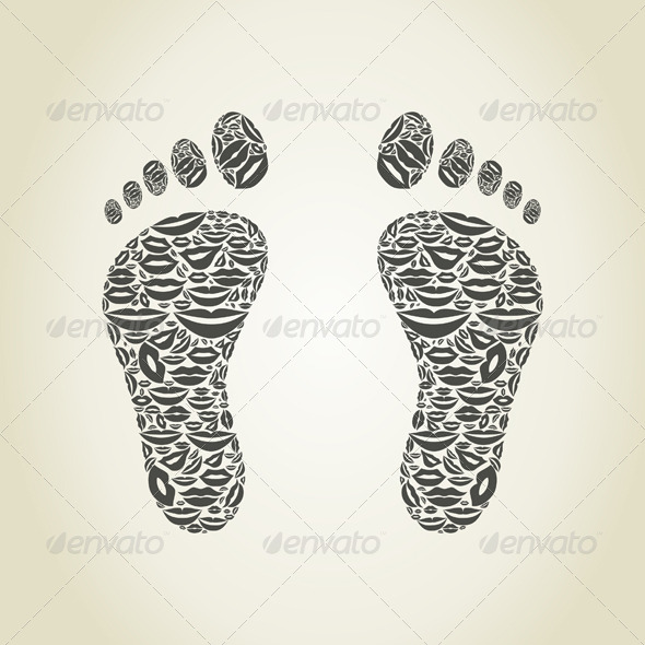 GraphicRiver Feet Made of Lips 6534330